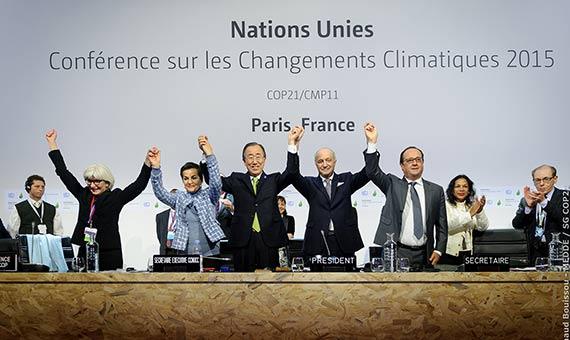 BBVA-OpenMind-Quien va a liderar la lucha contra el cambio climatico-El Acuerdo de París fue negociado durante la XXI Conferencia sobre Cambio Climático (COP 21), en 2015. Crédito: Arnaud Boissou