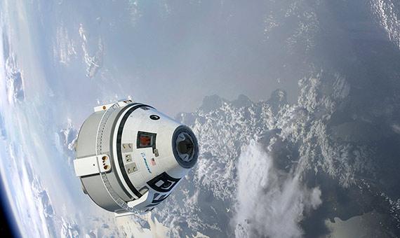 Ilustración de la CST-100 Starliner en órbita. Crédito: Boeing