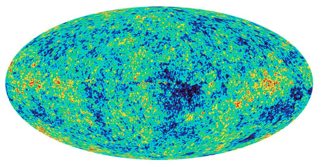Radiación de fondo de microondas (CMB). Satélite WMAP de la NASA