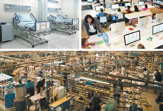 BBVA-OpenMind-Libro 2018-Perplejidad-Gamble-Educacion-collage-La sanidad, la educación pública y las condiciones laborales y salariales, han sido, son y serán ámbitos muy sensibles, entre otros, en la pugna por el bienestar social.