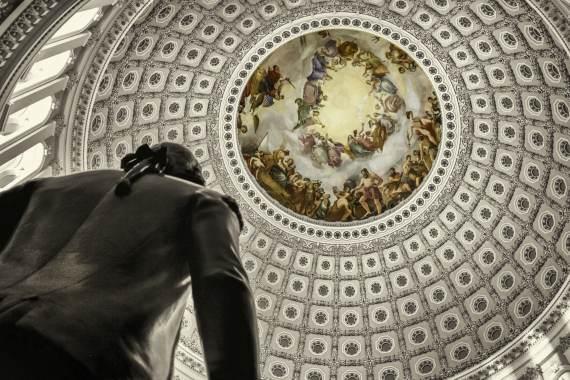 BBVA-OpenMind-Libro 2018-Perplejidad-Pardo-Capitolio-La cúpula central del Capitolio, sede que aloja las dos cámaras de representantes de Estados Unidos.