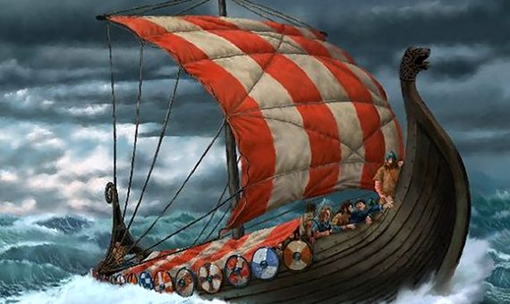 The key to the successful viking raids was their ships. Credit: Peter Hardy