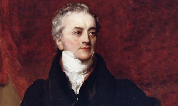 Copia de un retrato de Thomas Young de Henry Briggs. Fuente: Wikimedia