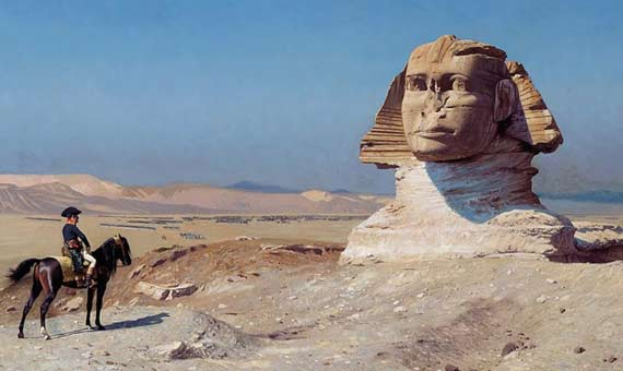 Fourier travelled with Napoleon in his campaign in Egypt. Credit: Art Renewal Center