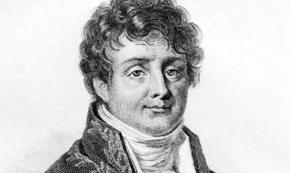 Portrait of Jean-Baptiste Joseph Fourier. Author: Jules Boilly