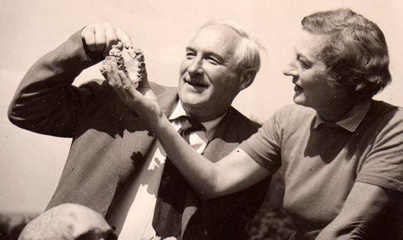 Louis y Mary Leakey fundaron una de las sagas familiares más famosas de la ciencia. Fuente: The Leakey Foundation