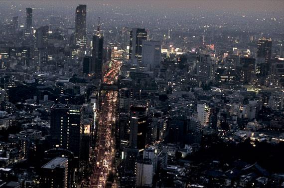 BBVA-OpenMind-ilustración-Alex-pentland-datos-para-una-nueva-ilustracion-Vista aérea de Tokio. El área metropolitana de la megaciudad nipona es la mayor del mundo