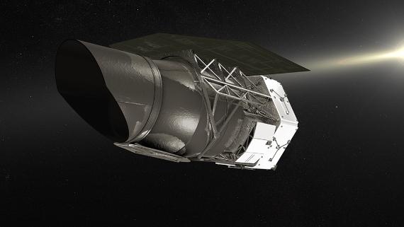 Ilustración del WFIRST. Crédito: Centro de Vuelos Espaciales Goddard de la NASA / Chris Meaney