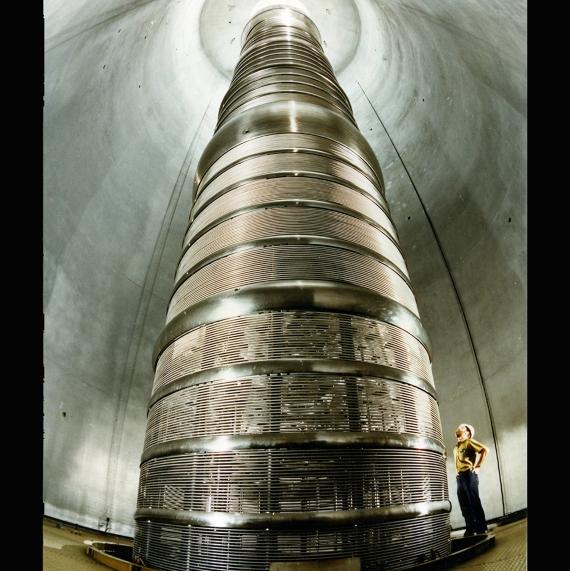 Interior de la instalación de investigación de iones pesados de Holifield. Crédito: Oak Ridge National Laboratory