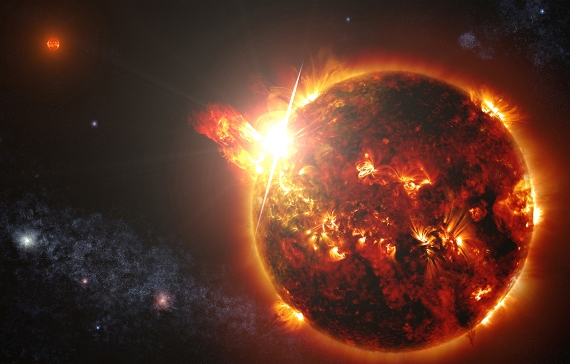 BBVA-OpenMind-Materia-hubble 3-El Chandra X-Ray Observatory detecta una eyección de masa coronal de una estrella que no es el Sol por primera vez.  Crédito: NASA