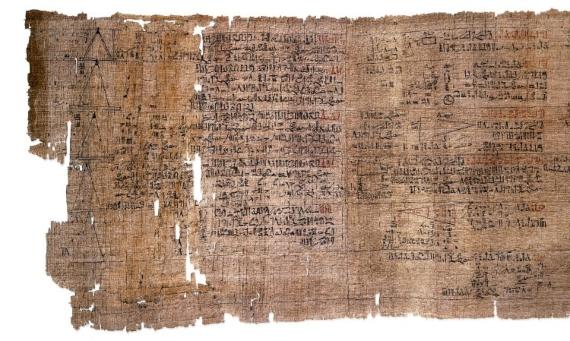El papiro matemático de Amhes. Crédito: Paul James Cowie