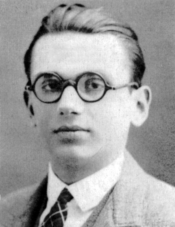 BBVA-OpenMind-Javier Muñoz de la Cuesta-Wikimedia-1925_kurt_gödel-Retrato de Kurt Gödel, uno de los lógicos más importantes del siglo XX, como estudiante en Viena. Fuente: Álbum familiar de los Gödel