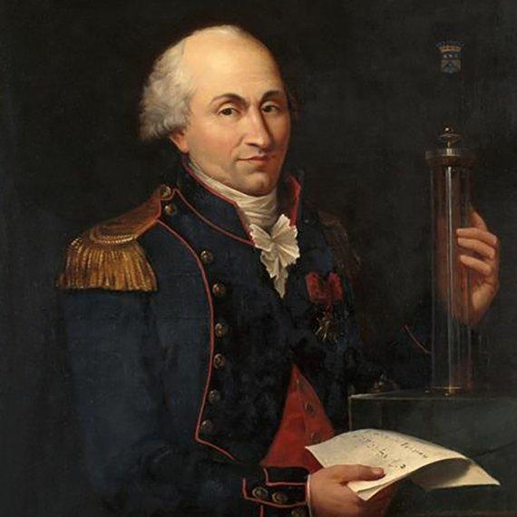 BBVA-OpenMind-Materia-Electricidad 6-Retrato de Charles Augustin de Coulomb (1736-1806). Artista: Louis Hierle