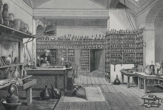 Faraday's Laboratory at the Royal Institution. Source: Science History Institute