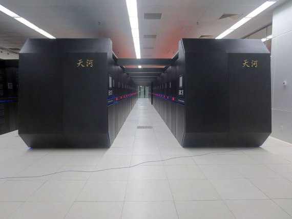 Tianhe-2, in National Supercomputer Center in Guangzhou. Credit: O01326