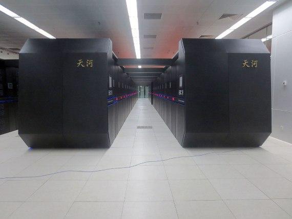 Tianhe-2, in National Supercomputer Center in Guangzhou. Credit: O01326