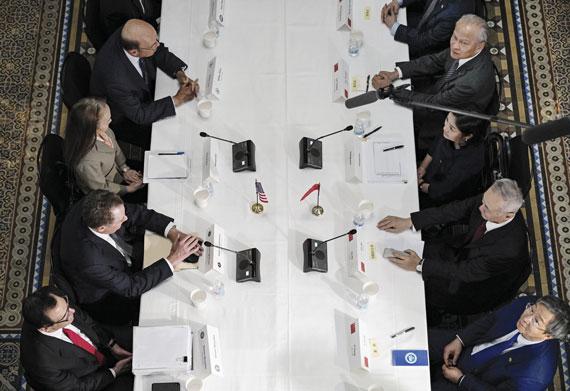 Estados Unidos y China retoman las conversaciones tras la crisis comercial entre ambos países, febrero de 2019, Washington D.C.