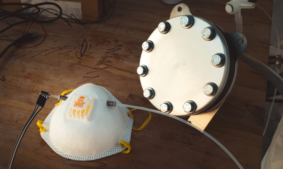 A prototype of the mask developed at Stanford University: Image credit: Andrew Brodhead
