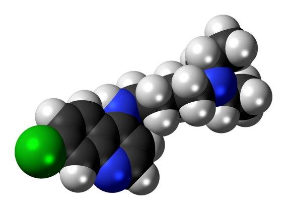 BBVA-OpenMind-Javier Yanes-Tratamientos contra la COVID-19__4-Molécula de cloroquina. Crédito: Jynto