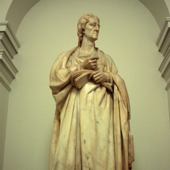 BBVA-OpenMind-Fuco-John Locke- Revolución Científica-John_Locke_3-Estatua de John Locke creada por Richard Westmacott. Crédito: Stephencdickson