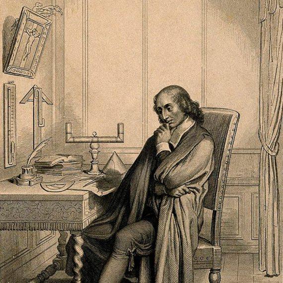 BBVA-OpenMind-Materia-Pascal-niño prodigio de las matemáticas-Pascal_2-Blaise Pascal en su escritorio. Crédito: Wellcome Images