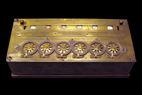 BBVA-OpenMind-Materia-Pascal-niño prodigio de las matemáticas-Pascal_4-La Pascalina fue una de las primeras máquinas calculadoras. Crédito: Rama