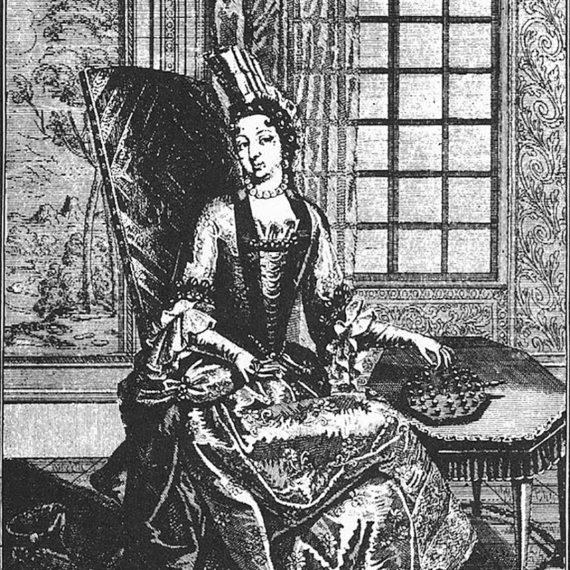 BBVA-OpenMind-Anne-Joulie de Rohan-Chabot, princesa de Soubise, jugando al solitario 1-Anne-Joulie de Rohan-Chabot, princesa de Soubise, jugando al solitario. Fuente: Wikimedia