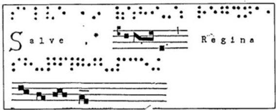 BBVA-OpenMind-Texto_en_Gregoriano-Texto en Gregoriano donde las palabras y la música aparecen alternados