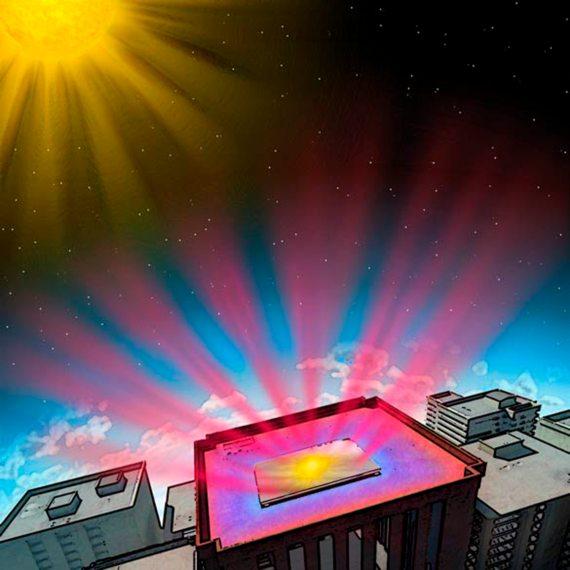 BBVA-OpenMind-Repintar los edificios para enfriar de manera más sostenible-Enfriamiento_sostenible_2-La Universidad de Stanford publicó el diseño de un recubrimiento que refleja el 97% de la luz solar. Crédito: Universidad de Stanford