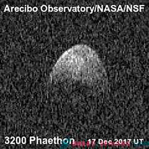 BBVA-OpenMind-Borja Tosar-telescopio de Arecibo 4-Asteroide Faeton visto por el radar de Arecibo. Crédto: Arecibo Observatory/NASA/NCF.