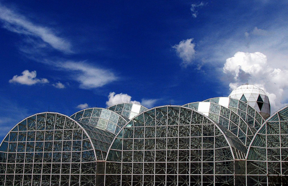 From 1995 to 2003, researchers from Columbia abandoned the idea of the closed ecosystem and turning Biosphere 2 into a climate change simulator. Credit: