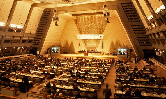 El Protocolo de Kioto, firmado en 1997 en la tercera Conferencia sobre el Cambio Climático de la ONU, establecía el régimen de comercio de los derechos de emisión. Crédito: ONU
