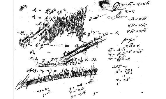 Manuscritos del cuaderno de Abel en la década de 1820. Imagen: WikimediaBBVA-OpenMind-historia-Abel- indigente noruego que dio nombre al Nobel de matematicas 2